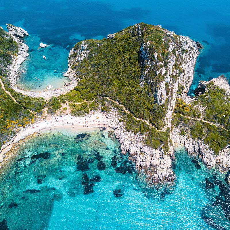 hidden beaches of corfu porto timoni ivy villas