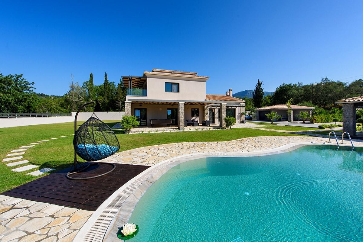 corfu villa black white ivy villas 13
