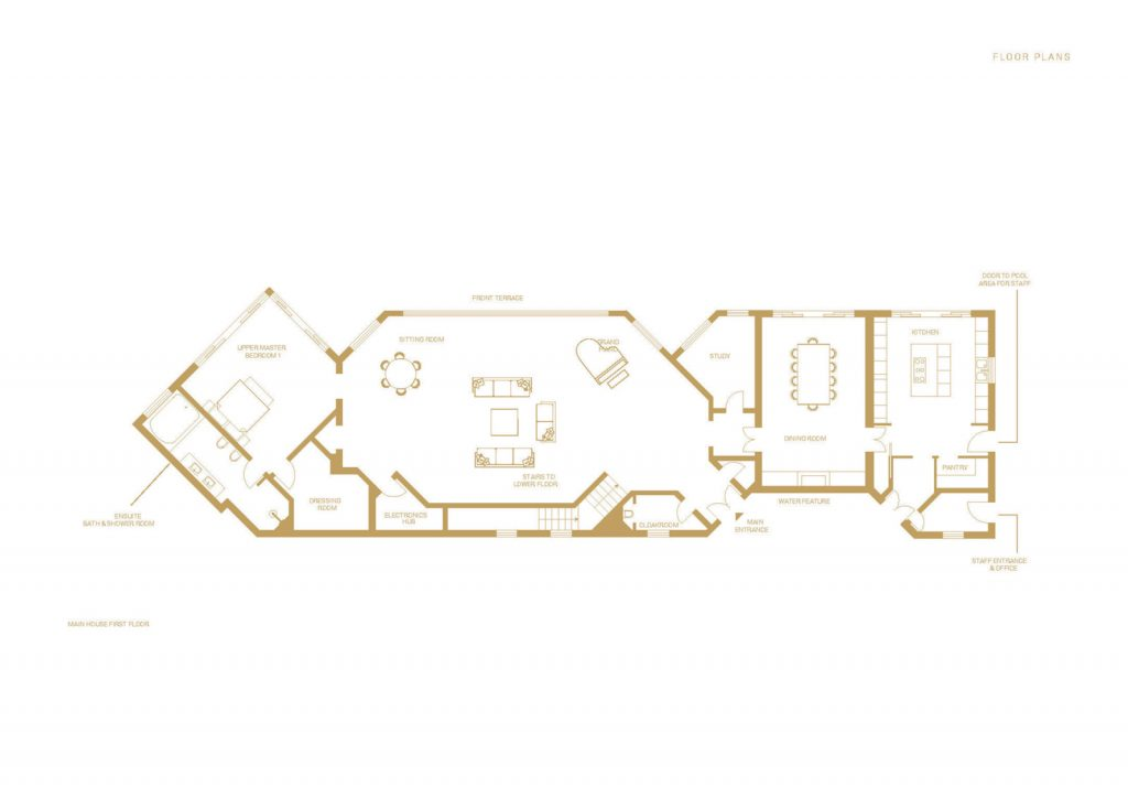 villa ultima corfu floor plans main house first floor