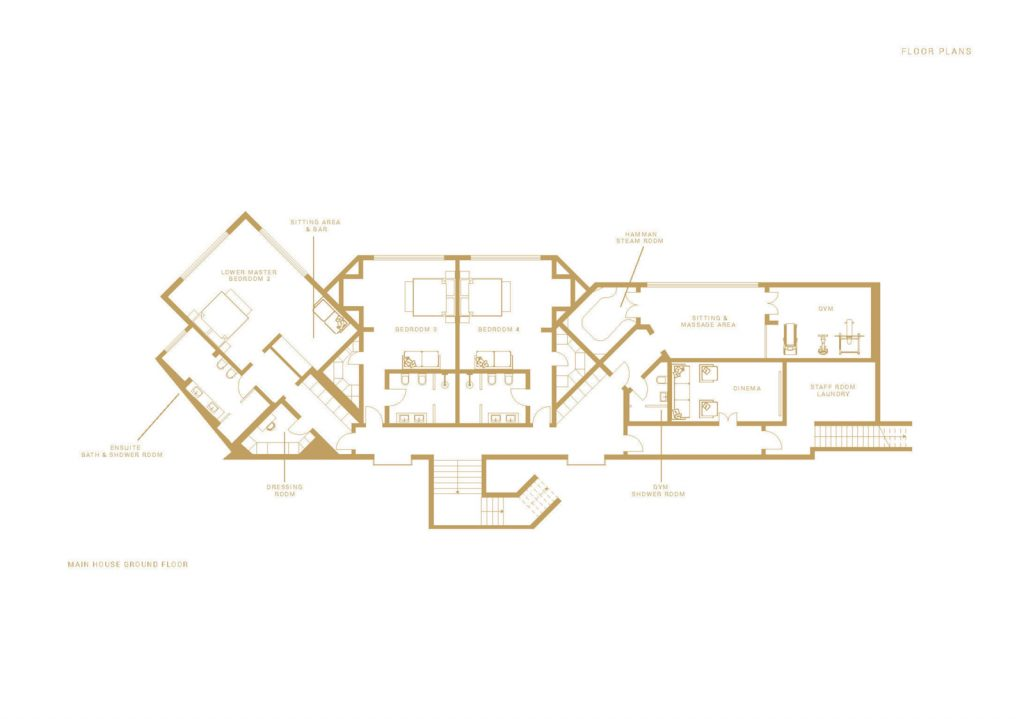 villa ultima corfu floor plans main house ground floor