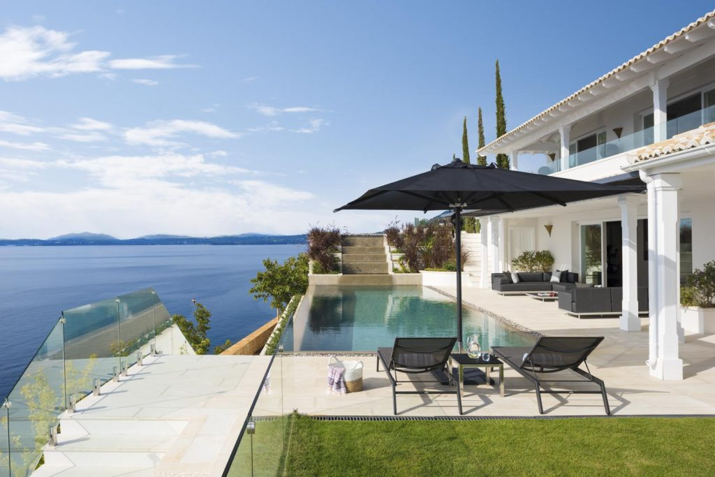 villa ultima corfu ivy villas exterior pool area 04