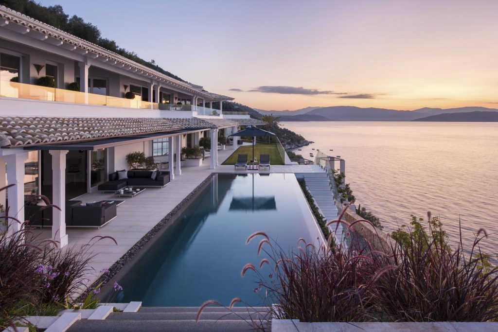 villa ultima corfu ivy villas morning sunrise 01